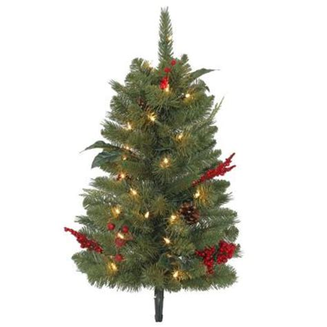 2 ft winslow pathway artificial christmas tree with 35
