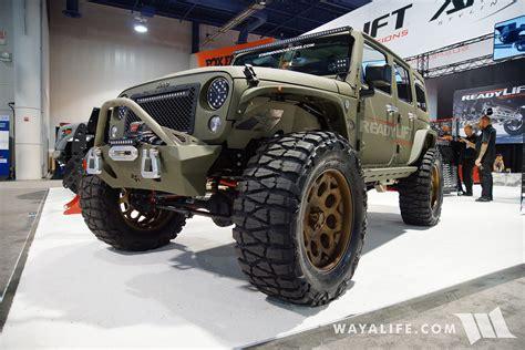 sema jeep 2016 2016 sema readylift jeep jk wrangler
