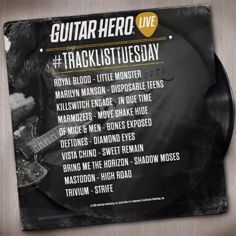 Featuring crazy and unique sequences and solos these songs are made for the purpose of providing the ultimate rhythm game challenge. Activision confirms another round of tracks for Guitar Hero Live - Nintendo Everything