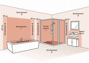 Steckdosen Badezimmer Waschbecken : die schutzbereiche im bad leuchten sicher installieren ~ Lizthompson.info Haus und Dekorationen