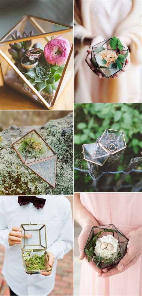 wedding trends geometric terrarium stylish wedd blog