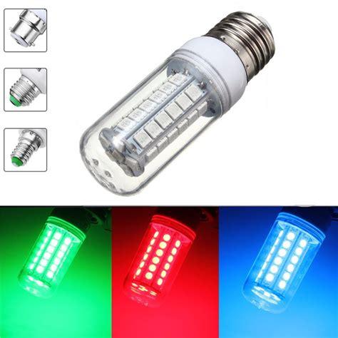 e27 e14 b22 9w 96 smd5050 800lm 360 green blue non dimmable led corn light bulb l ac220v