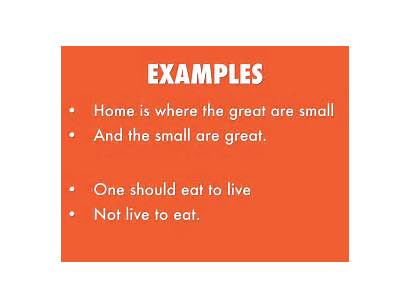 Chiasmus Examples