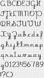 Cross Stitch Font Cursive | www.imgkid.com - The Image Kid ...