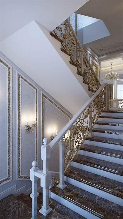 French Staircase Luxurious Interiors Luxury Neoclassical Louis