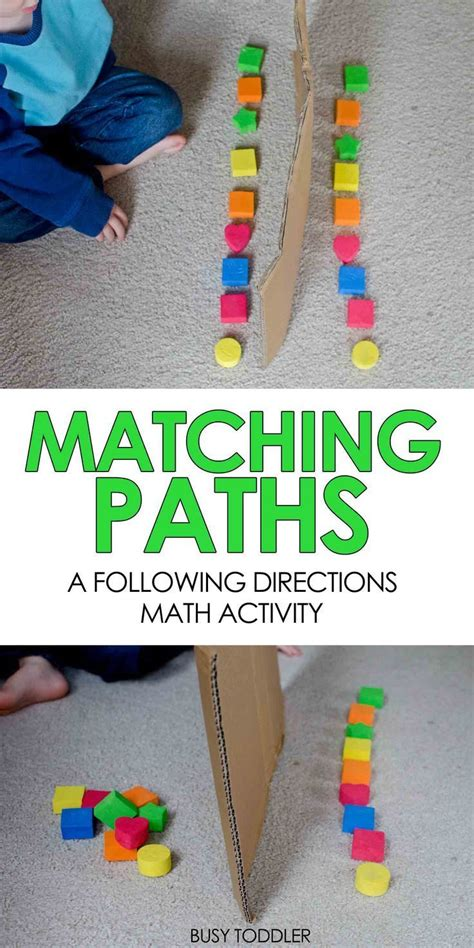 easy preschool games matching paths easy math activity preschool math 856