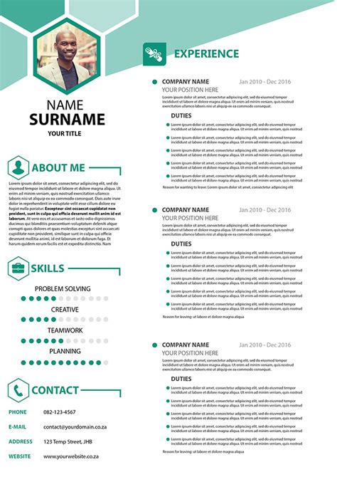 company cv business cv