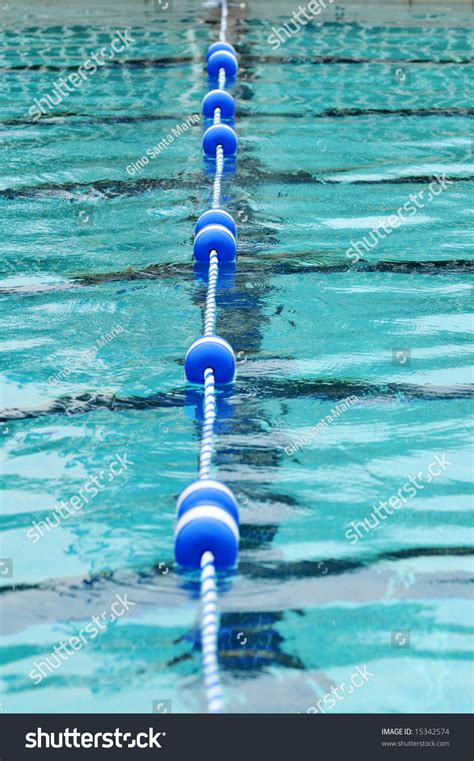 swimming pool with lane divider with limited depth of