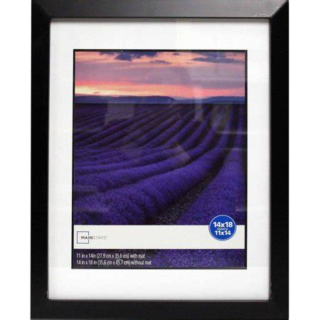 frame matted to 11x14 mainstays wide picture frame 14x18 matted to 11x14