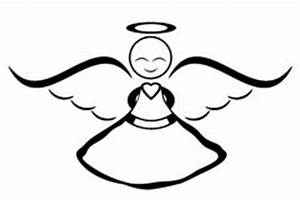 Angel Clip Art Black and White – Cliparts