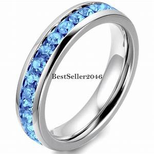 stainless steel cubic zirconia eternity mens womens With womens cubic zirconia wedding rings