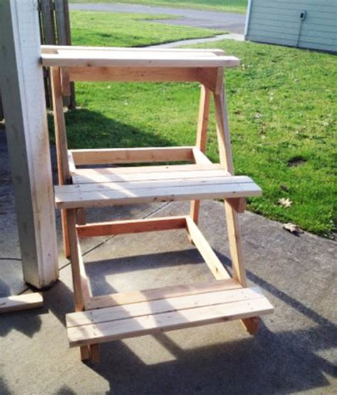 Patio Plant Stand Plans by 3 Tier Plant Stand Myoutdoorplans Free Woodworking