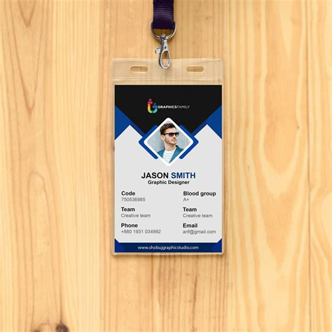 office id card design  psd  graphicsfamily