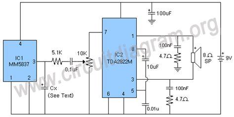 Multiple Sound Effects Generator Circuit Diagram