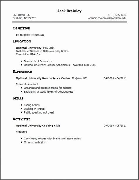 Simple Resume Exles For by A Resume Exles Exles Resume