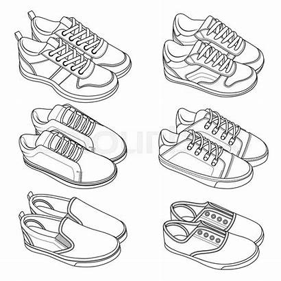 Shoes Drawing Draw Sneakers Sketch Vector Nike
