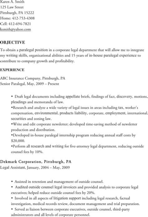 paralegal resume templates for free formtemplate