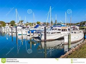 Sailboat Moored At Port Stock Photo | CartoonDealer.com ...