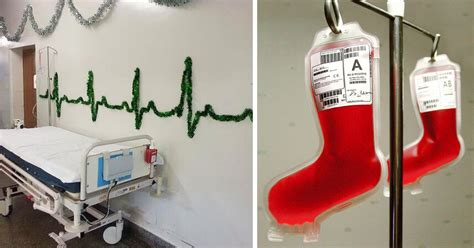 show me christmas decorations for an office 30 hospital decorations that show staff are the most creative