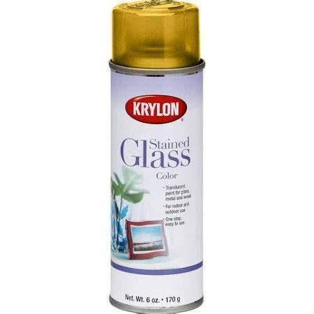 krylon yellow stained glass glass aerosol spray paint 6 oz aaa z supplies looking glass
