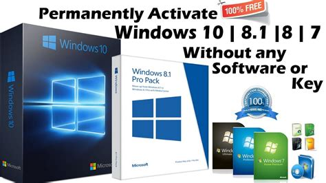 permanently activate windows 10 8 8 1 7 all version without software or key 100