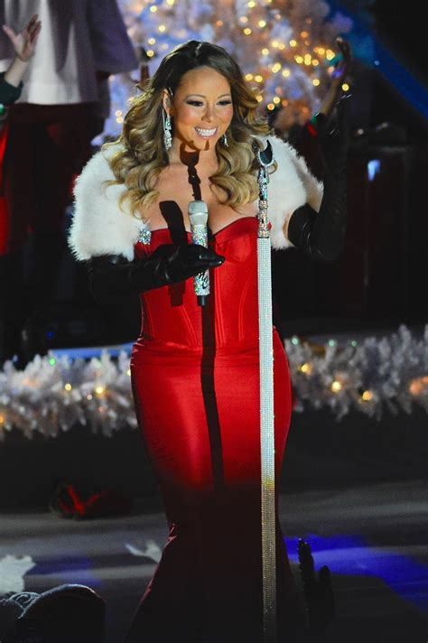 mariah carey performs at 81st annual rockefeller center