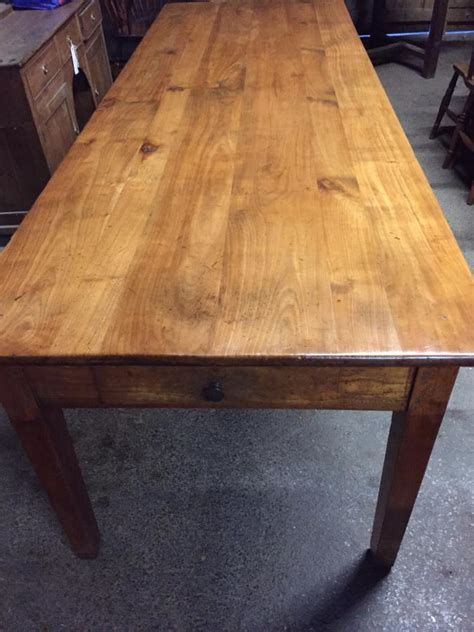 8ft antique cherry farmhouse table antique table