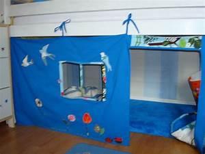 Cabane Enfant Tissu : lit cabane tissu ~ Teatrodelosmanantiales.com Idées de Décoration