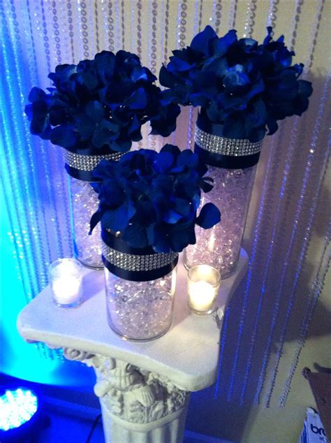 royal blue and white wedding table decorations discover