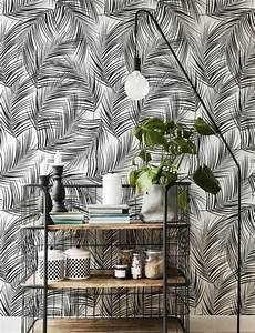 Papier Peint Rayé Noir Et Blanc : 1001 mod les de papier peint tropical et exotique ~ Dailycaller-alerts.com Idées de Décoration