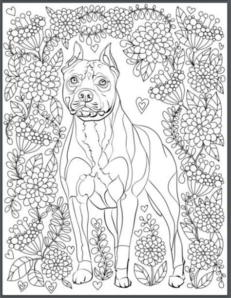 de stress  dogs downloadable  page coloring book