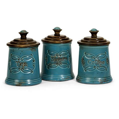 country canister sets for kitchen shop set of 3 country kitchen canisters free shipping