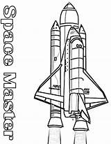 Rocket Coloring Nasa Space Pages Shuttle Booster Its Outline Colouring Clipart Rockets Drawing Printable Spaceship Kidsplaycolor Play Books sketch template