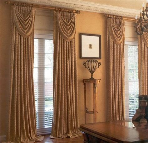 swags tails ideas images  pinterest window coverings window dressings