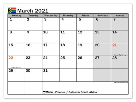 march  calendars public holidays michel zbinden en