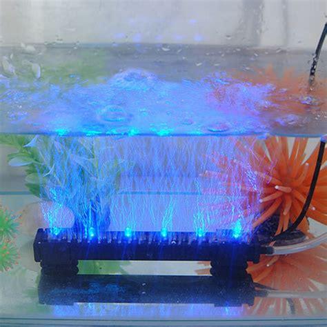 fish tank lights 12v 1 2w 6 led blue air light water