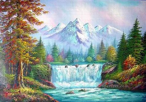 Cheap Vivid Freehand 11 Style Of Bob Ross Painting In Oil