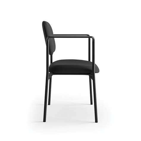 basyx by hon stacking guest chair with arms atwork