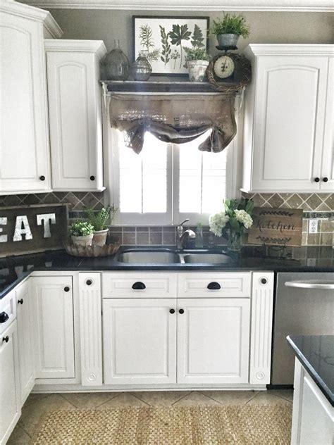 Farmhouse kitchen decor. Shelf over sink in kitchen.   DIY