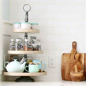 Our Kitchen Tea Station And Tiered Trays For Kitchen