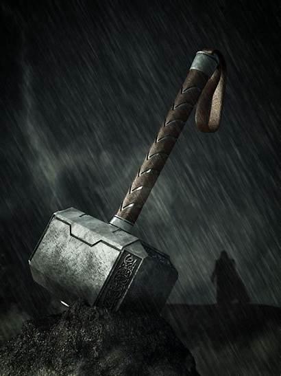 Hammer Thor Thors Mjolnir Wallpapers Norse Hybrid