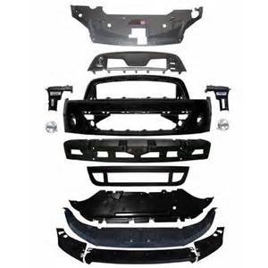 2012 ford mustang v6 ford front bumper conversion kit 13 14 gt500 style v6 gt 11 14