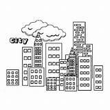 Clipart Colouring Gedung Sketsa Gambar Coloring Skyline Building Comunidad Colorear Coloriage Drawing Webstockreview Simple Mewarnai Bangunan Paysages Communaute Feuilles Urbain sketch template