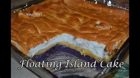 floating island cake filipino dessert youtube