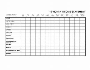 Sample Of Income Statements Monthly Income Statement Income Statement Template Monthly
