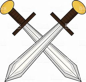 Medieval Crossed Swords Stock Vector Art & More Images of ...