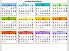 Free Malaysia 2019 Calendar Template PDF, Excel, Word