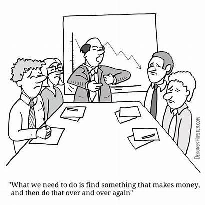 Business Cartoons Presentations Successful Key Humor Cartoon