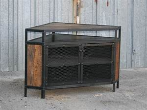Cool DIY Industrial Corner TV Stands Made From Wood And