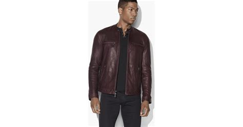 John Varvatos Vintage Leather Jacket For Men